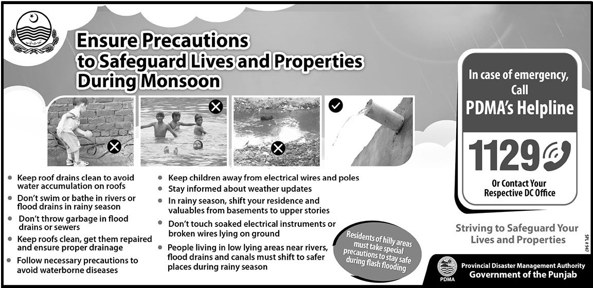 Ensure Precautions to Safeguard Lives and Properties PMDA Message
