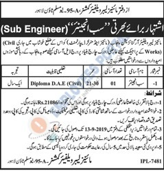 Latest Jobs Lahore Mines Labour Welfare Commissioner Sub Engineer 22 August 2019