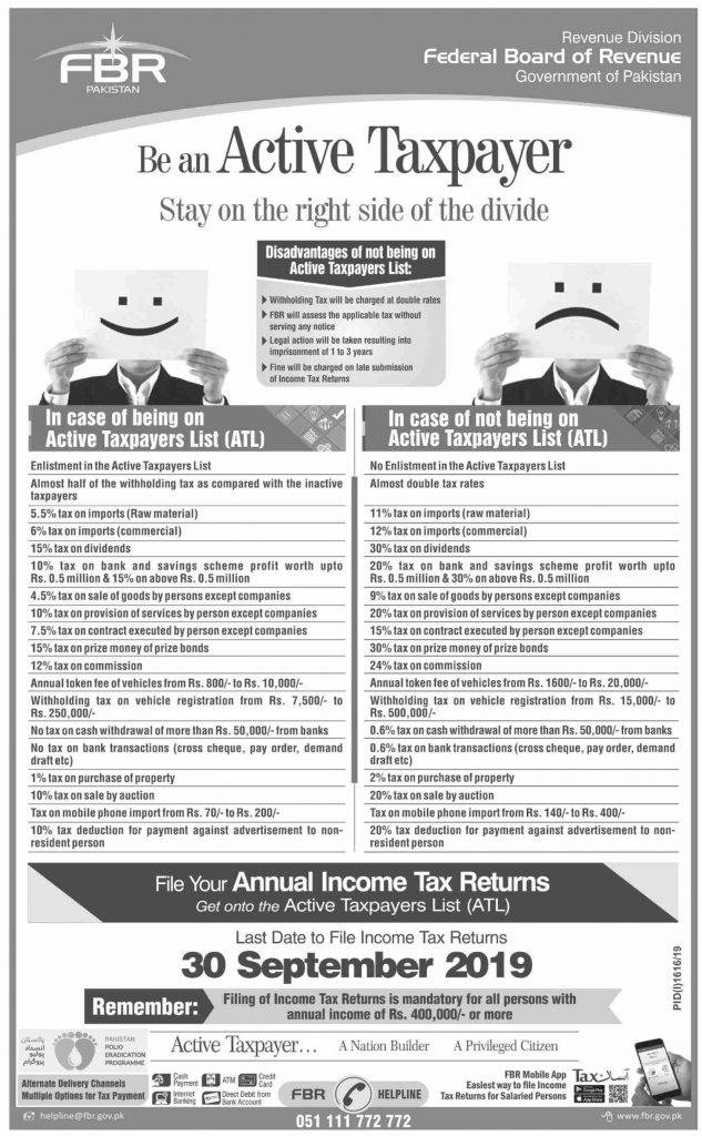 Active Taxpayer Advantages & Disadvantages in Pakistan