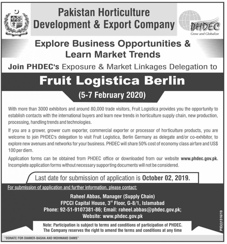 Explore Business Opportunities PHDEC Fruit Logistica Berlin 2020 Infographics