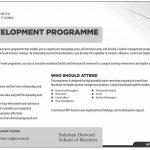 LUMS Management Development Program 2019