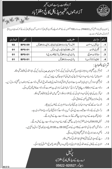 Latest AJK Medical College Jobs 4 September 2019