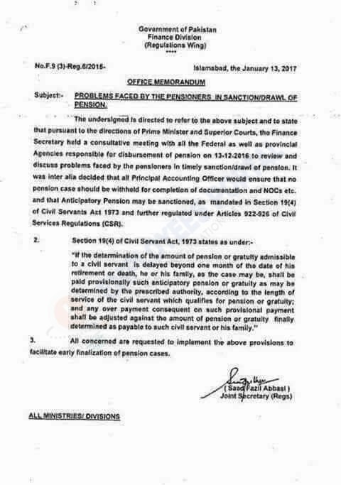 Problems Faced by Pensioners in Sanction/Drawl of Pension