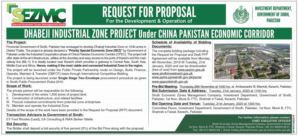 Dhabeji Industrial Zone Project Under CPEC