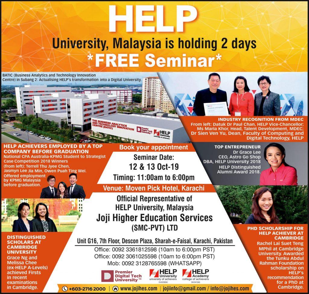 HELP University Malaysia 2 Days Free Seminar