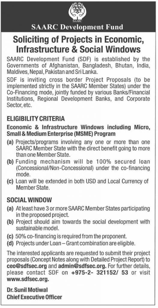 SAARC Economics, Infrastructure & Social Windows Program