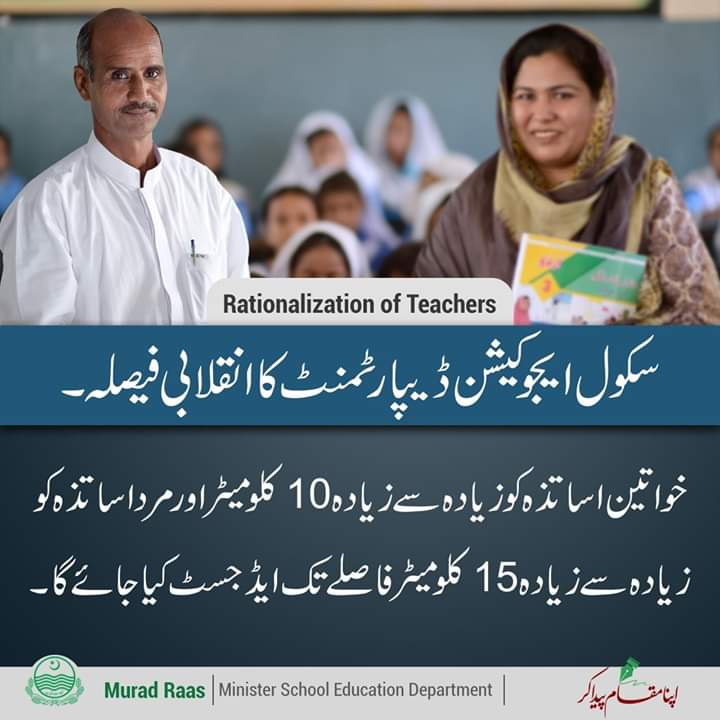 Transfer of Teachers policy under Rationalization