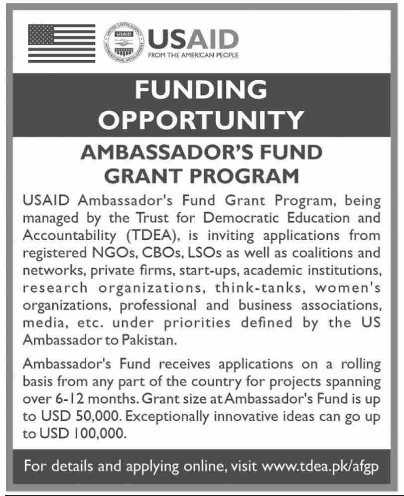 USAID Ambassador's Fund Grant Program