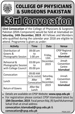CPSP 53rd Convocation 2019