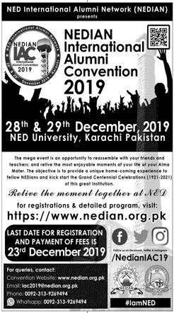 NEDIAN International Alumni Convention 2019