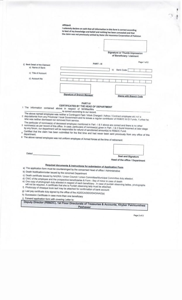 Group Insurance Notification for Retired Employees Form-2