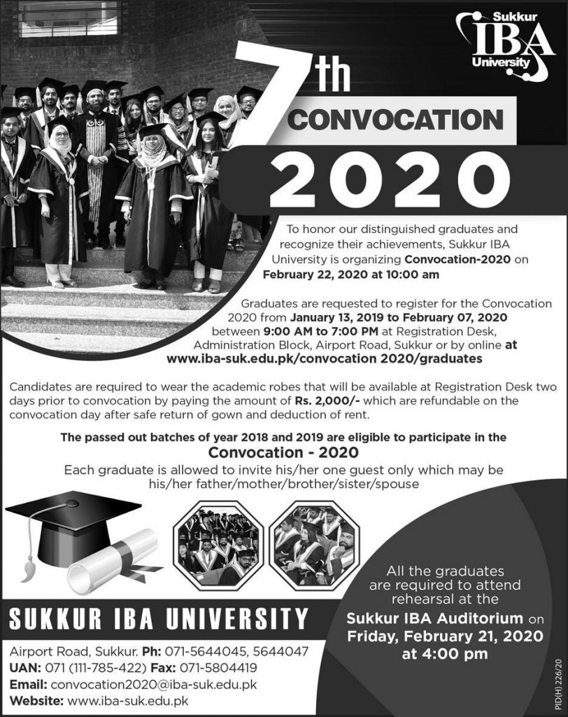 IBA 7th Convocation 2020