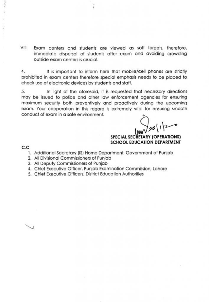 Annual Examination of Grade-8 2020