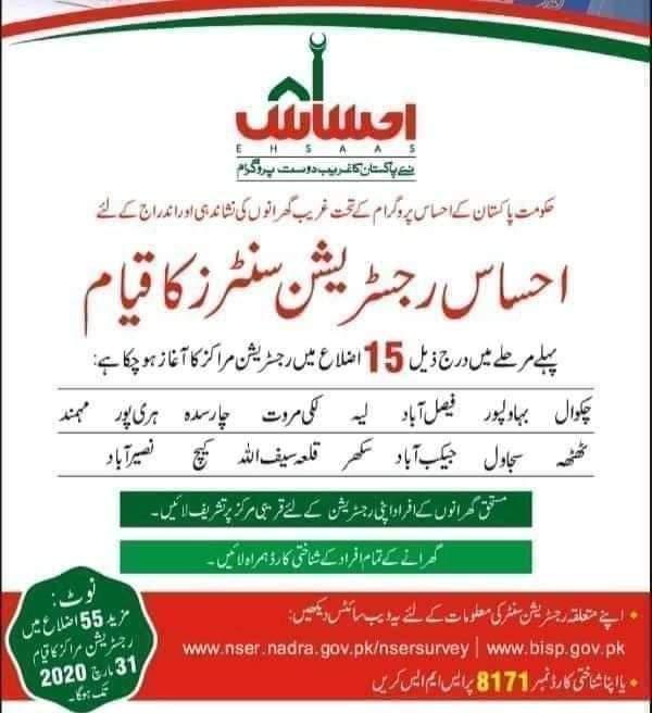 Ehsas Kafalat Program in Urdu (Infographics)