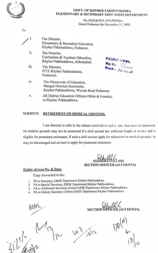 Medical Ground Retirement Rules