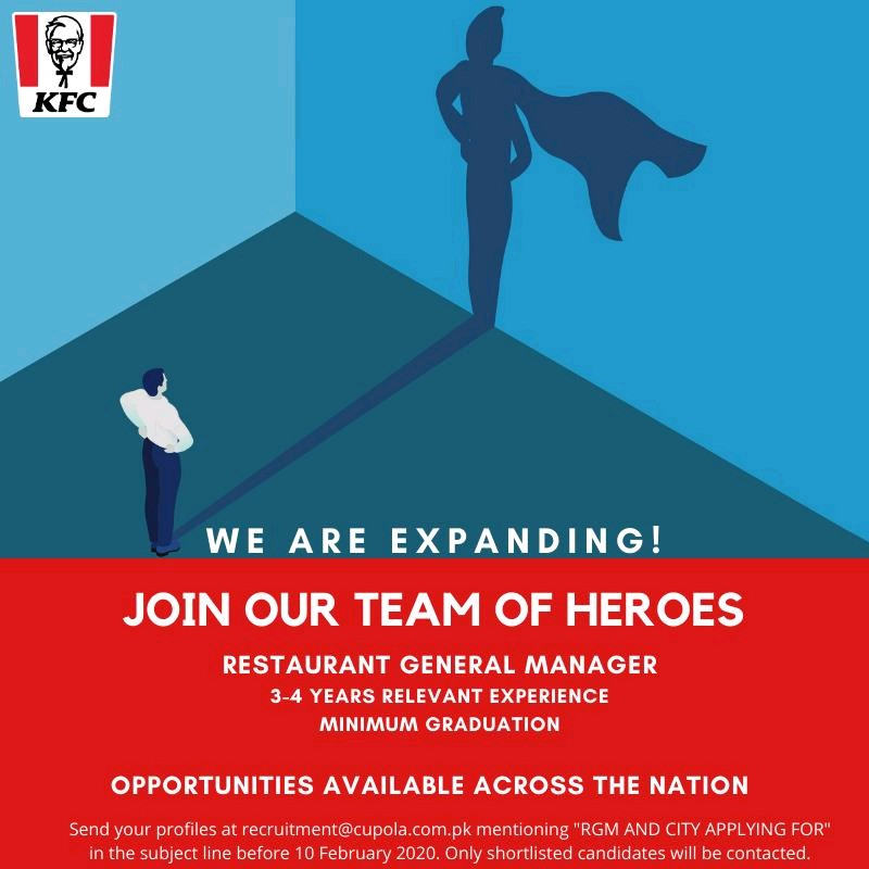 Restaurant General Manager Jobs for KFC