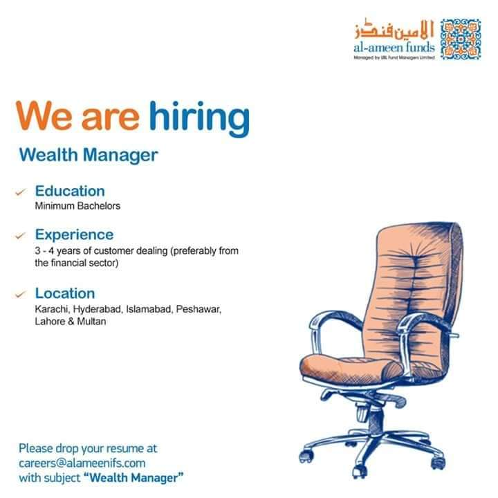 Wealth Manager Jobs in Al Ameen Funds 2020