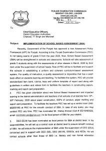Implementation of School Based Assessment SBA