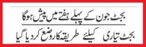 Budget 2021-22 Pakistan Date