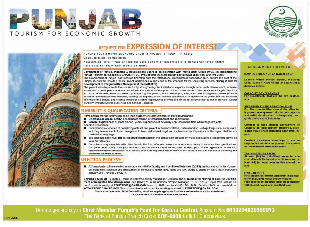 Punjab Tourism of Hiring of Firm For Development of ISMP