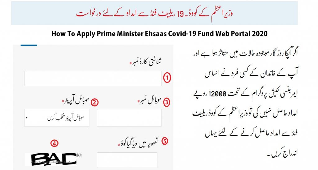How To Apply Prime Minister Ehsaas Covid-19 Fund Web Portal 2020