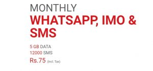 Monthly WhatsApp, IMO & SMS