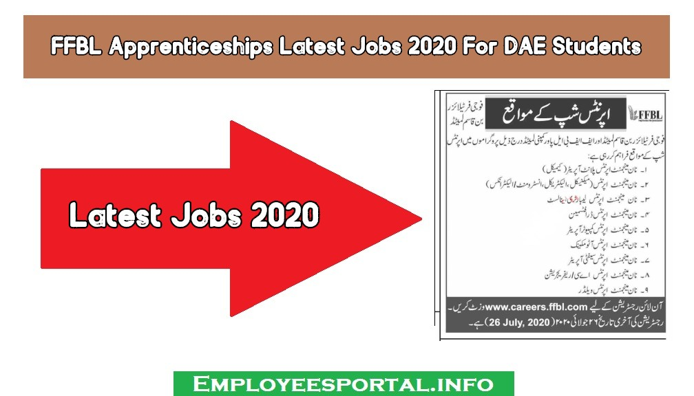 FFBL Apprenticeships Latest Jobs 2020 For DAE Students