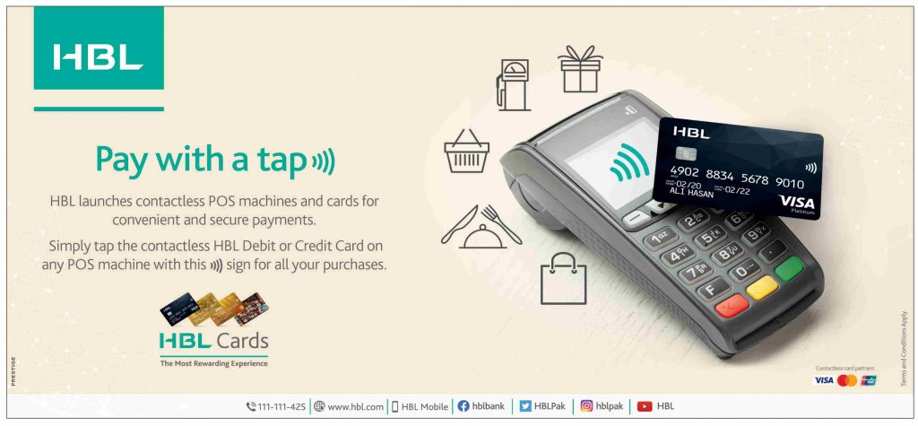 HBL Launches Contactless POS Machines and Cards