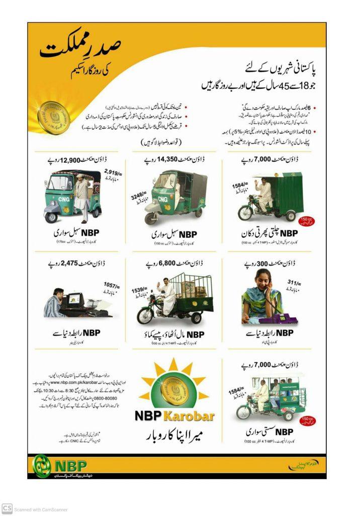 NBP Loan Scheme 2020 Rozgar Karobar