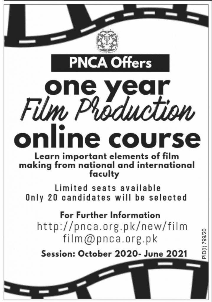 PNCA Offers One Year Film Production Online Course