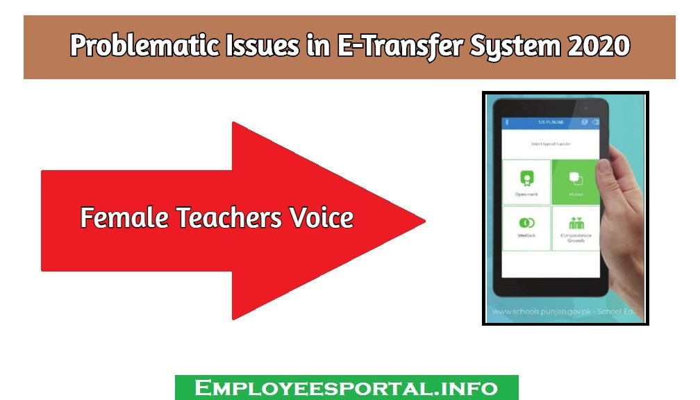 Problematic Issues in E-Transfer System 2020