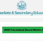 BISE Faisalabad Board Matric Class 10th Result 2020