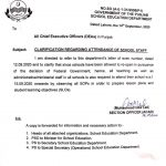 Clarification Regarding Attendance of School Staff