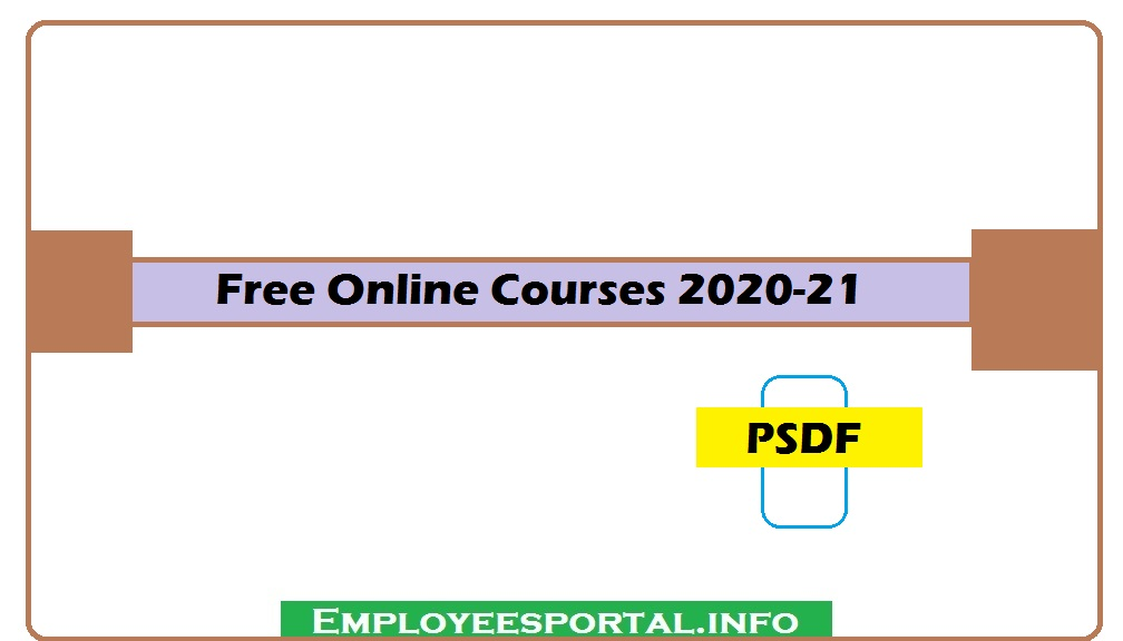 Free Online Courses PSDF 2020-21