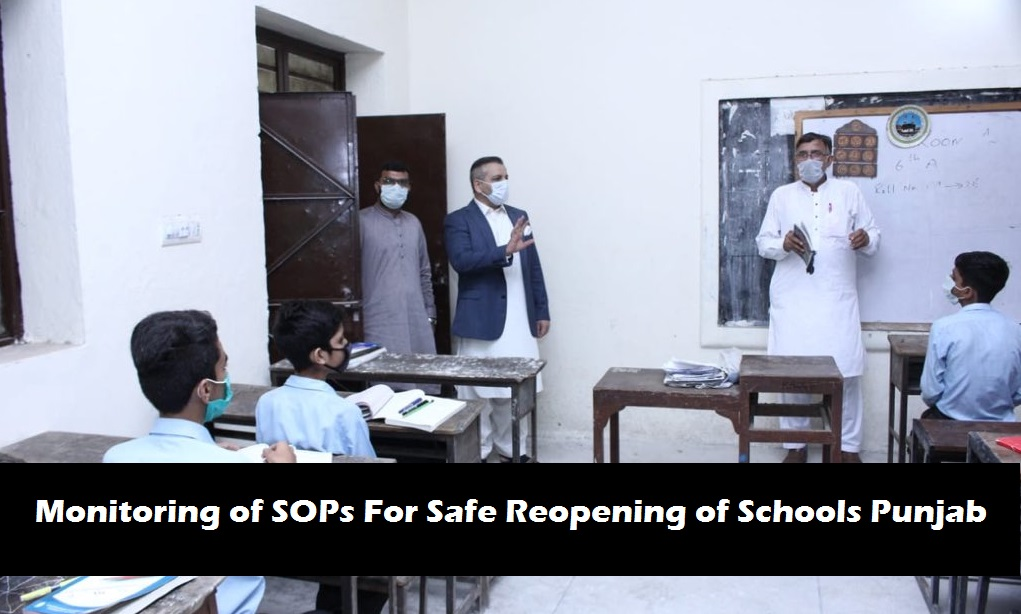 Monitoring of SOPs For Safe Reopening of Schools Punjab
