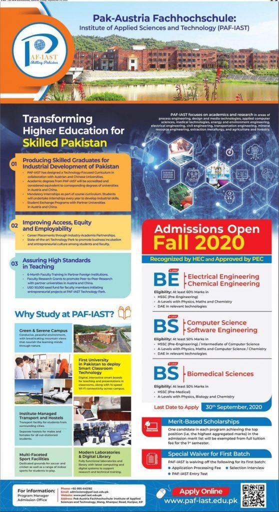 PAF IAST Admissions Infographics