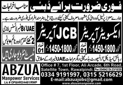 Excavator Operator New Jobs 2020 For Dubai