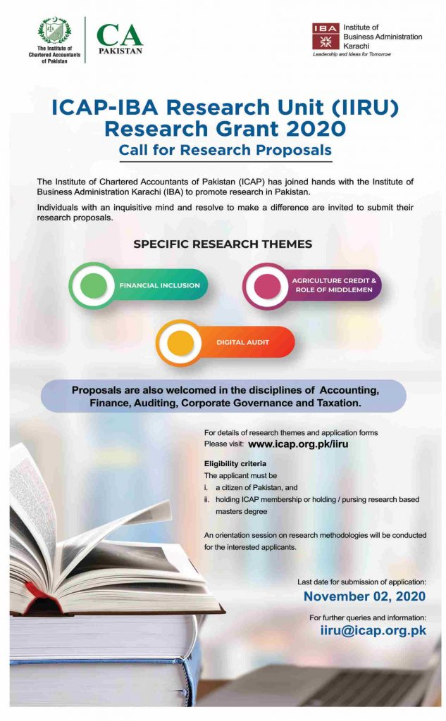 IBA Research Grant 2020 Call For Research Proposals