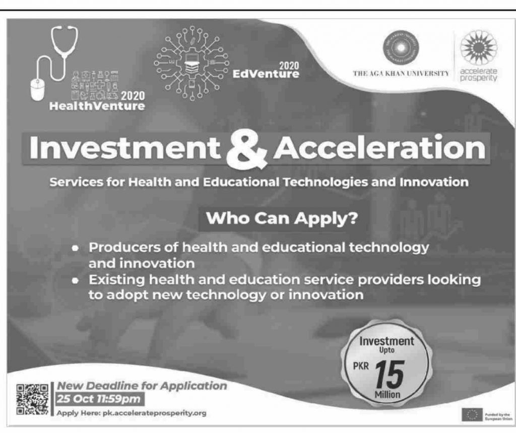 Investment For Health Services & Acceleration for Educational Technologies