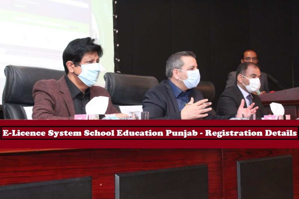 E-Licence System School Education Punjab - Registration Details