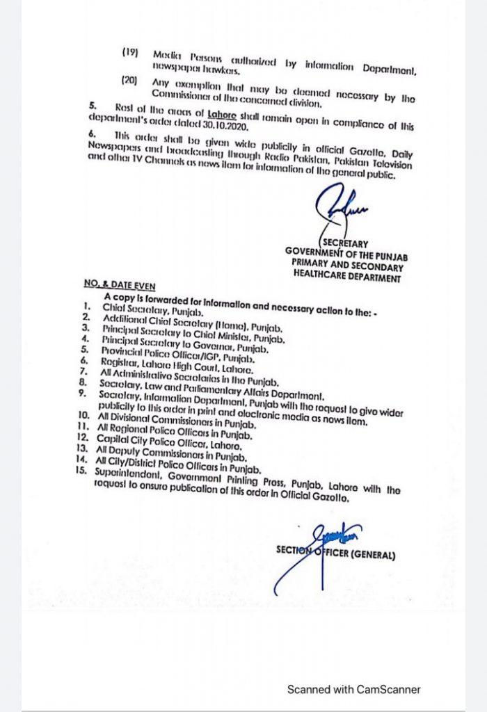 Smart Lockdown in 33 Areas of Lahore-3