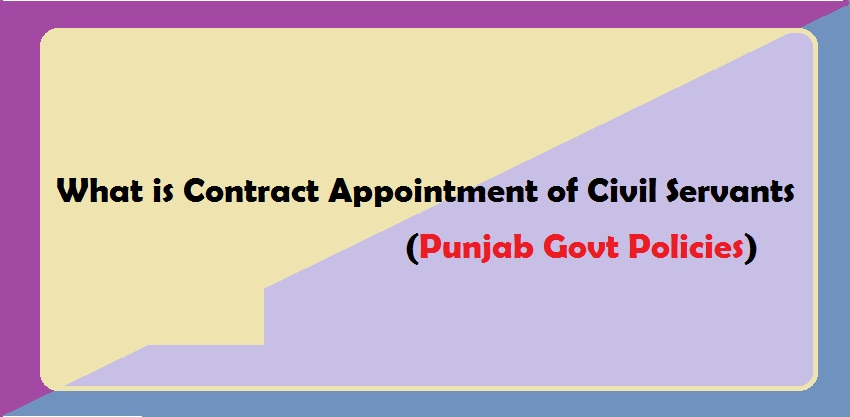 What is Contract Appointment of Civil Servants