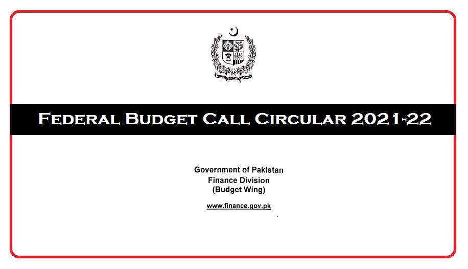 Federal Budget Call Circular 2021-22