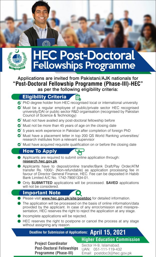 HEC Postdoctoral Program 2021