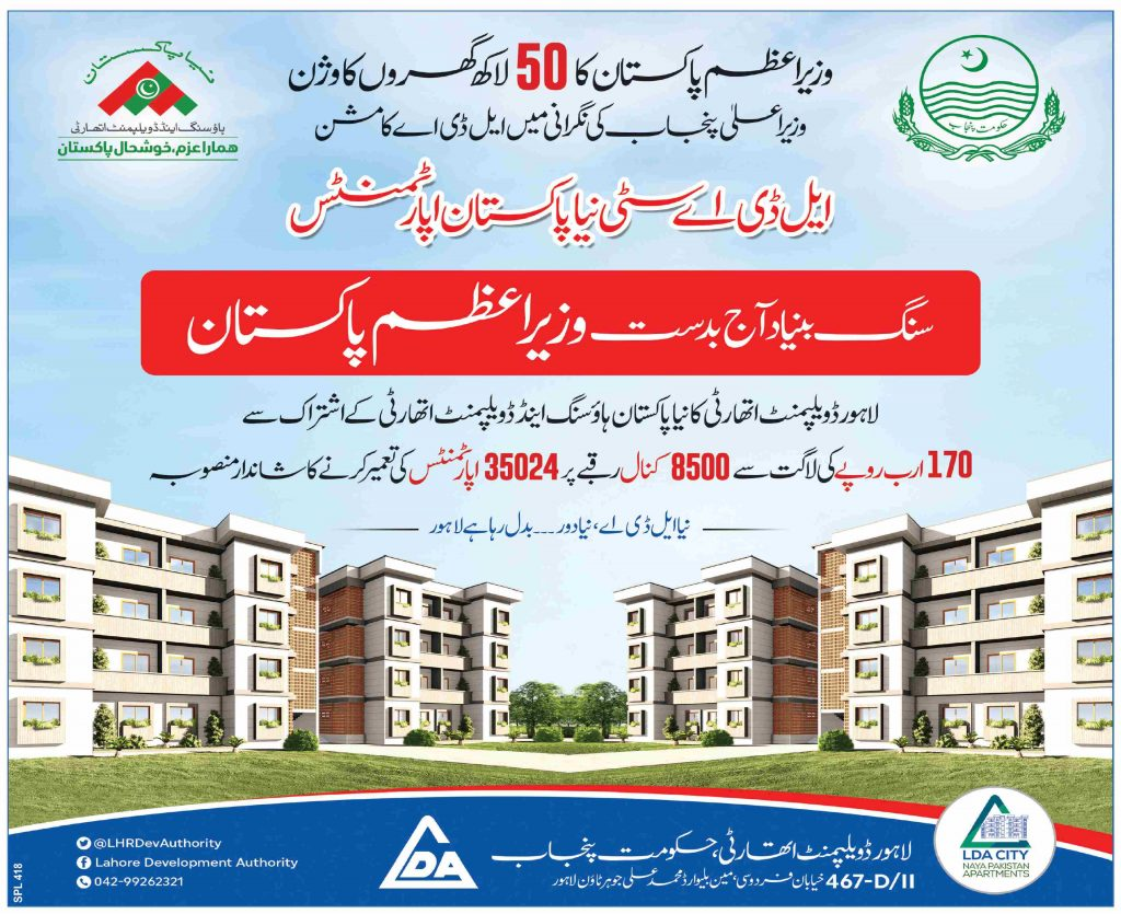 Application Procedure For Registration of Naya Pakistan Houses For Employees 2021