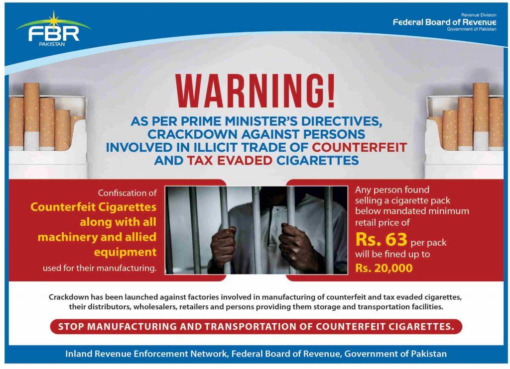 FBR Crackdown Against Cigarettes Manufacturer 2021