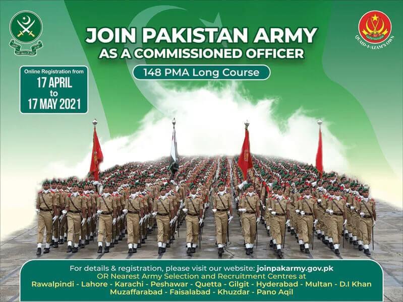 Join Pak army Online Registration 2021 Schedule