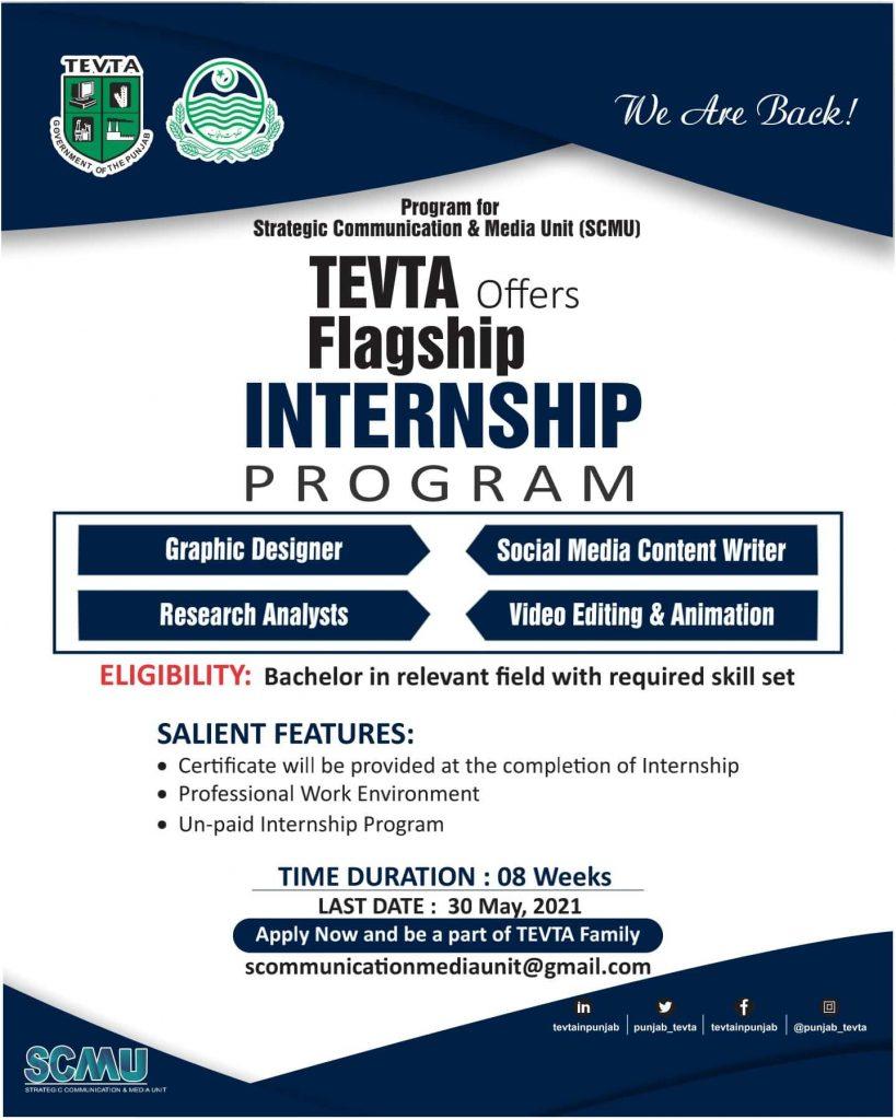 TEVTA Offers Flagship Internship Program 2021