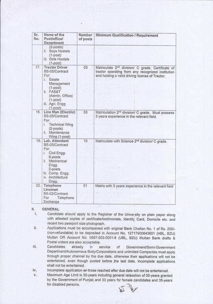 Vacancies Announced By Bahauddin Zakariya University Multan Jobs 2021