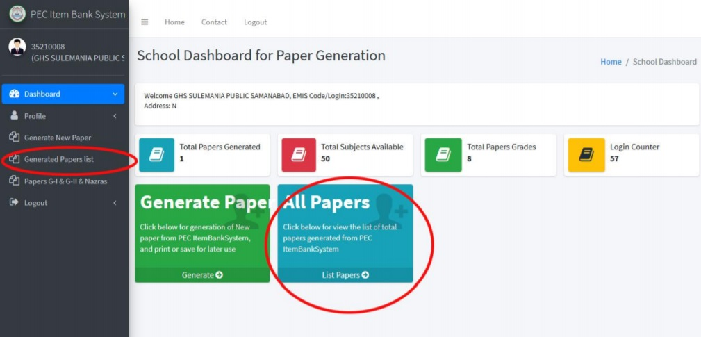 Generated Papers List